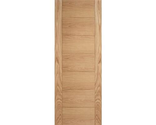 Oak Carini 7p Internal Door - Unfinished Internal Doors