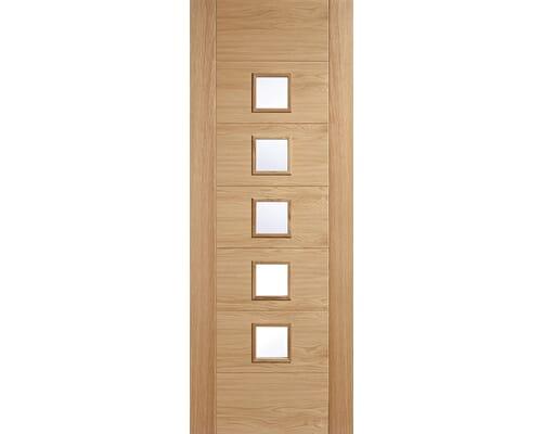 Oak Carini 5l Glazed Internal Door - Prefinished Internal Doors
