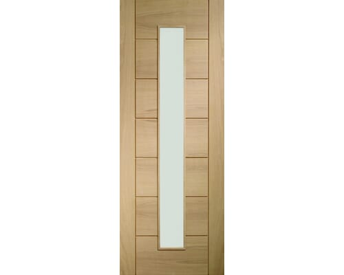 Palermo Oak 1 Light - Clear Glass Internal Doors
