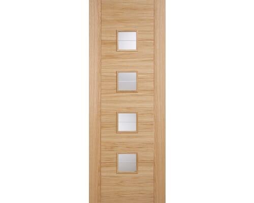 Vancouver Glazed Oak - Prefinished Internal Doors
