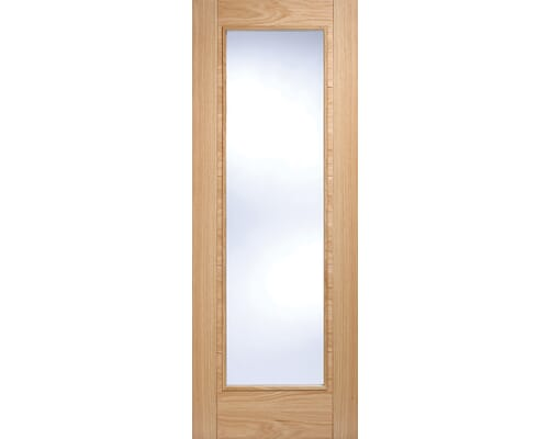 Vancouver Pattern 10 Oak - Clear Prefinished Internal Doors