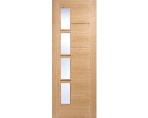 Vancouver 4l Offset Oak - Clear Prefinished Internal Doors