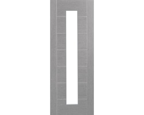 Palermo Light Grey - Clear Glass Prefinished Internal Doors