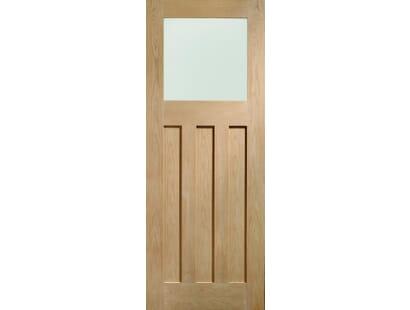 Dx Oak Glazed Door - Obscure Prefinished Image