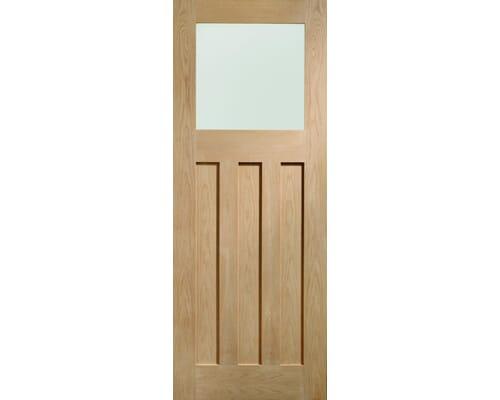 Dx Oak - Prefinished Obscure Glass Internal Doors