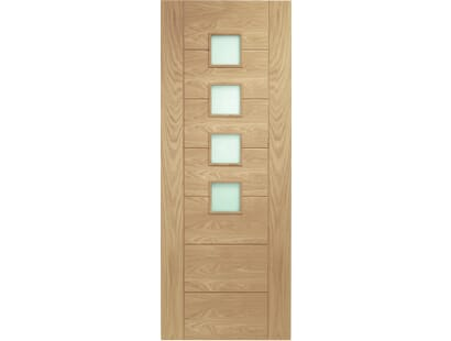 Palermo Oak Glazed Door - Obscure Prefinished Image