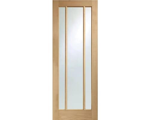 Worcester Oak Prefinished Clear Glass Internal Doors