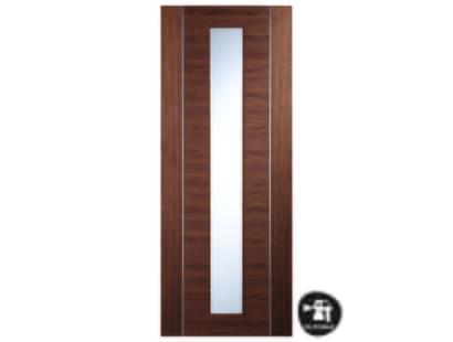 Forli Walnut Glazed Door - Prefinished Image