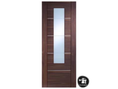 Portici Walnut Glazed Door - Prefinished Image