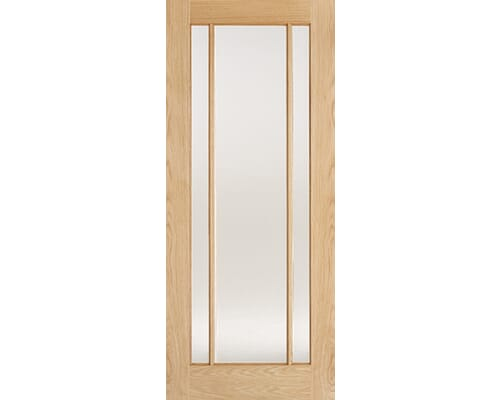Lincoln Oak 3 Light - Clear Glass Prefinished Internal Doors