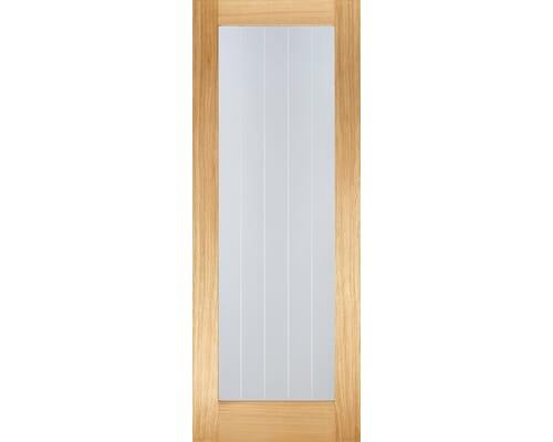 Mexicano Oak Pattern 10 - Clear Glass Prefinished Internal Doors