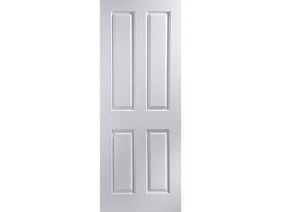 Deco 4 Panel Primed White Internal Door Image