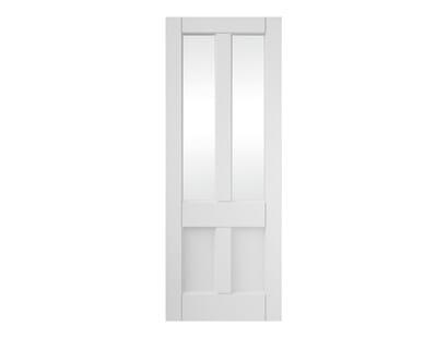 Deco 4 Panel Clear Glazed Primed Internal Doors Image
