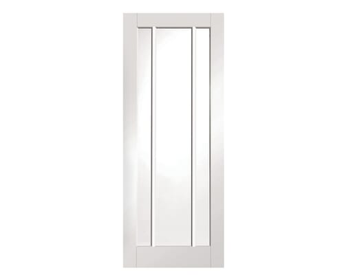 Worcester 3 Light Clear Glazed White Internal Doors