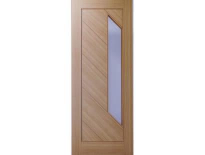 Torino Prefinished Glazed Oak Door Image