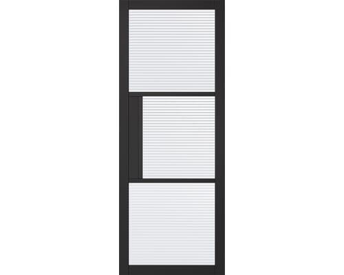 Tribeca Reeded Glazed Black Internal Doors