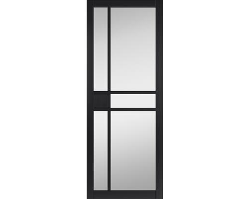 City Black Clear Glazed Internal Doors