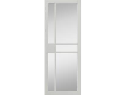 City White Clear Glazed Internal Doors Image