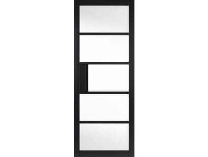 Metro Black Clear Glazed Internal Doors Image