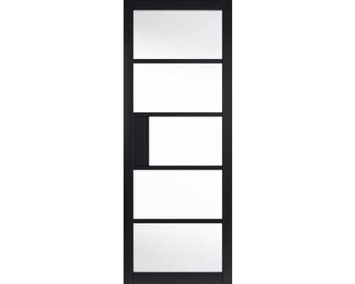Metro Black Clear Glazed Internal Doors