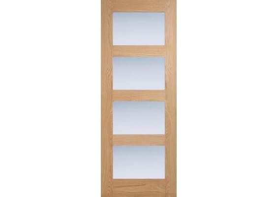 Oak Shaker 4L - Frosted Prefinished Internal Doors