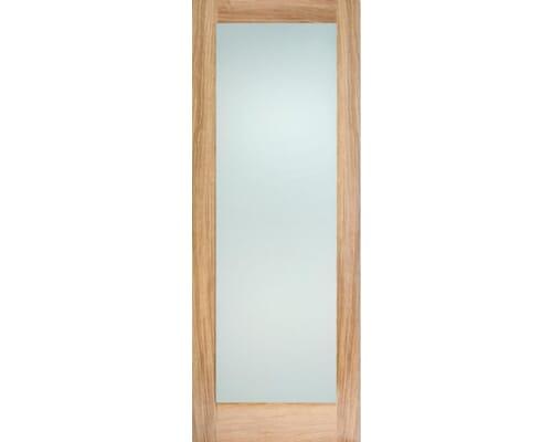 Oak Shaker 1 Light - Frosted Internal Doors