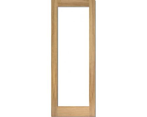 Oak Shaker 1 Light - Prefinished Clear Internal Doors