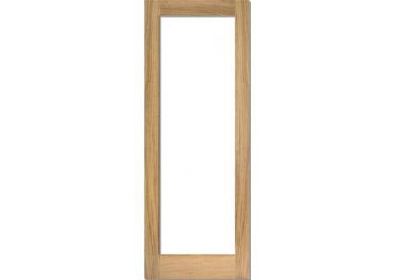 Oak Shaker 1 Light - Prefinished Clear Doors