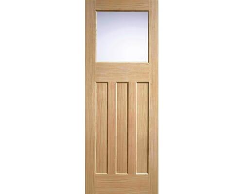 Dx 30s Style Oak - Clear Glass Internal Doors