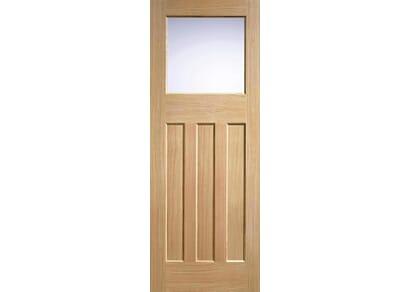 Oak DX30 - Clear Glass Internal Doors