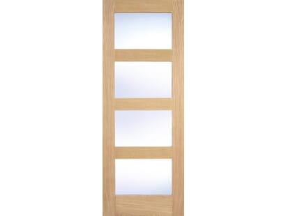 Shaker 4 Light Oak Glazed Door Image