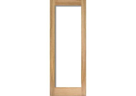 Glazed Oak P10 - Clear Glass Fire Doors