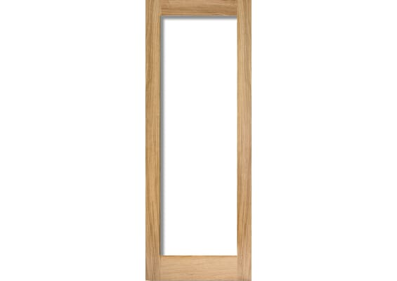 Glazed Oak P10 Fire Door