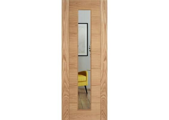 Modern 7P Oak Clear Glazed Internal Doors