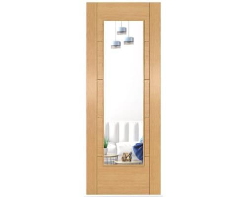Iseo Oak Pattern 10 Clear Glazed - Prefinished Internal Doors