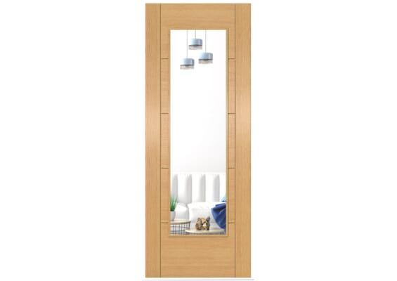 ISEO Oak Pattern 10 Clear Glazed - Prefinished Doors