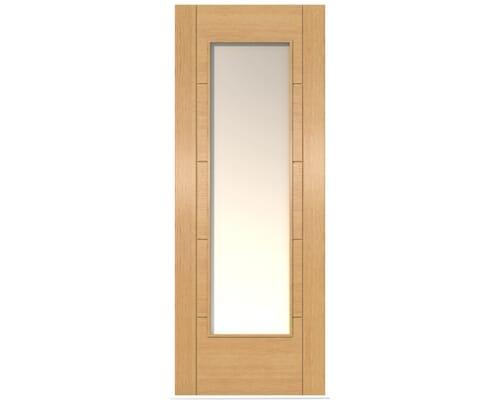Iseo Oak Pattern 10 Frosted Glazed - Prefinished Internal Doors