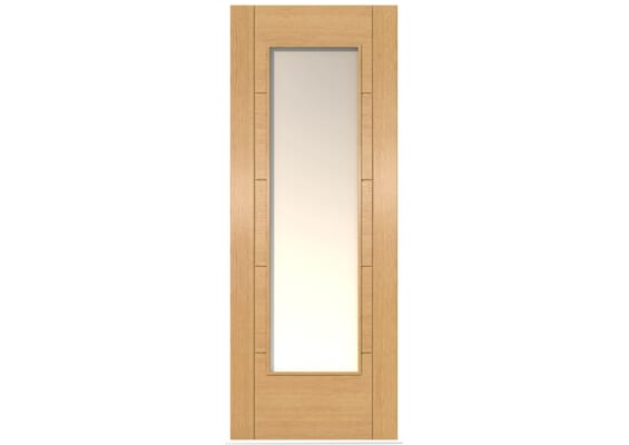 ISEO Oak Pattern 10 Frosted Glazed - Prefinished Doors