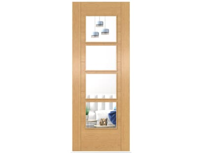 Oak Iseo 4l Clear Glazed - Prefinished Image