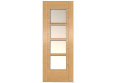 ISEO Oak 4 Light Frosted Glass - Prefinished Internal Doors