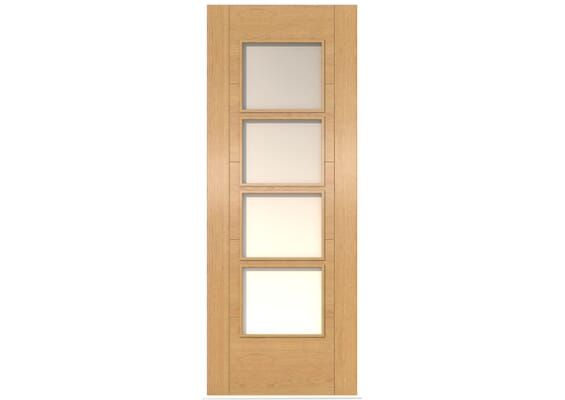 ISEO Oak 4 Light Frosted Glass - Prefinished Doors