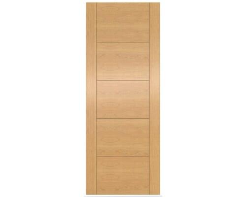 Iseo Oak Solid Core Fire Door