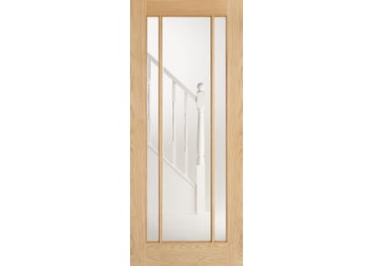 Lincoln Oak Glazed - Clear Internal Doors