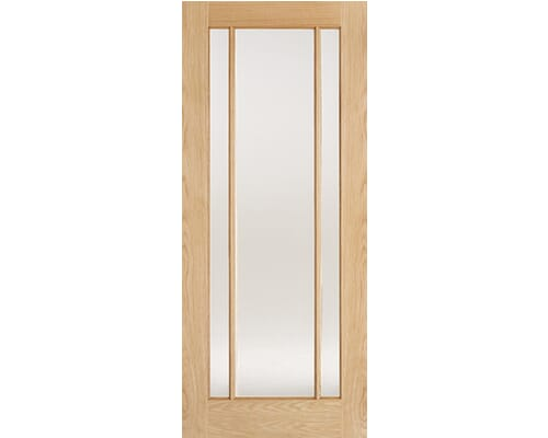 Lincoln Oak Glazed - Frosted Internal Doors