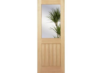 Mexicano Half Light Glazed - Clear  Internal Oak Doors