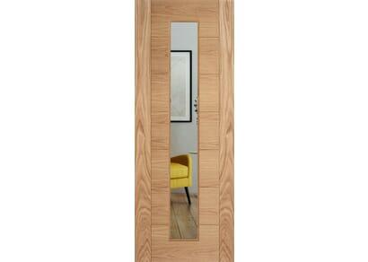 Modern 7P Oak Clear Glazed - Prefinished Internal Doors