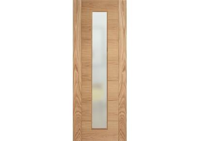 Modern 7P Oak Frosted Glazed - Prefinished Internal Doors