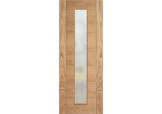 Modern 7P Oak Frosted Glazed - Prefinished Doors