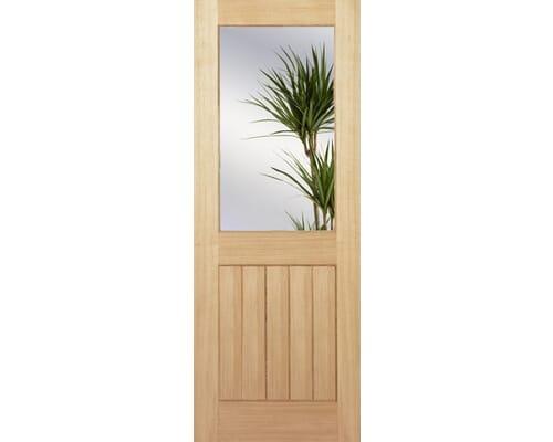 Mexicano Oak Half Light Clear - Prefinished Internal Doors