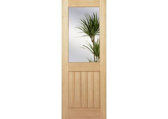 Mexicano Oak Half Light Clear - Prefinished Doors